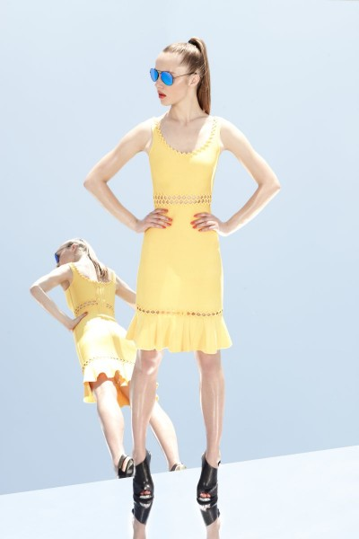 herve leger20 400x600 Herve Leger by Max Azrias Resort 2013 Collection is Comic Book Inspired