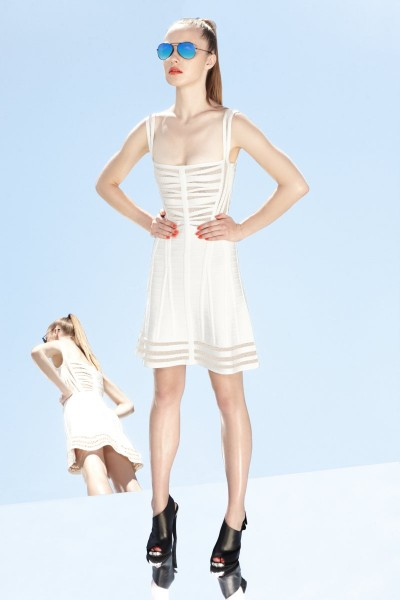 herve leger22 400x600 Herve Leger by Max Azrias Resort 2013 Collection is Comic Book Inspired