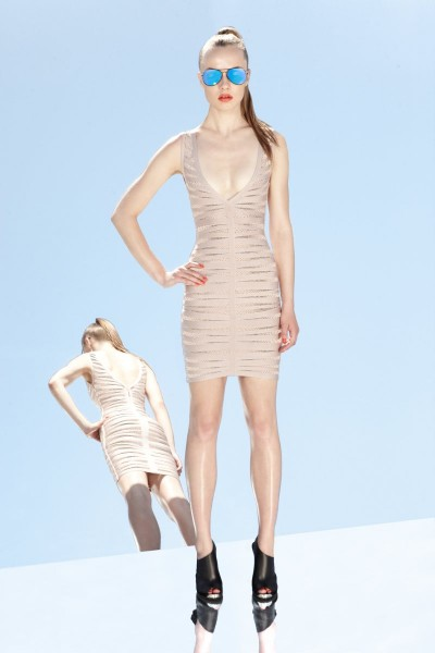 herve leger23 400x600 Herve Leger by Max Azrias Resort 2013 Collection is Comic Book Inspired