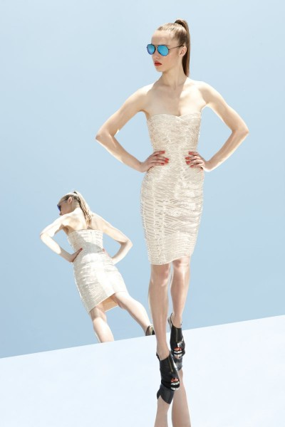 herve leger24 400x600 Herve Leger by Max Azrias Resort 2013 Collection is Comic Book Inspired