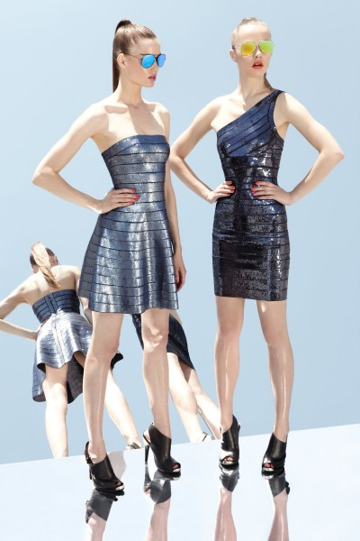 herve leger25 400x600 Herve Leger by Max Azrias Resort 2013 Collection is Comic Book Inspired
