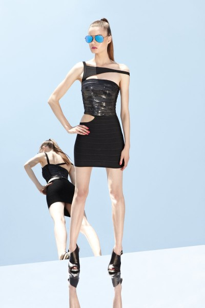herve leger26 400x600 Herve Leger by Max Azrias Resort 2013 Collection is Comic Book Inspired