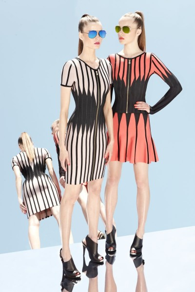 herve leger27 400x600 Herve Leger by Max Azrias Resort 2013 Collection is Comic Book Inspired