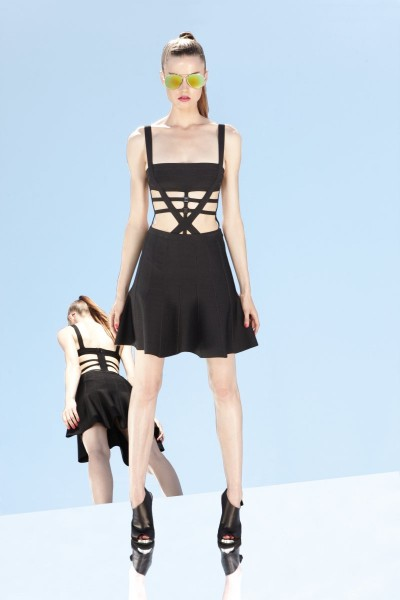 herve leger29 400x600 Herve Leger by Max Azrias Resort 2013 Collection is Comic Book Inspired