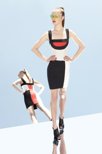 herve leger3 400x600 Herve Leger by Max Azrias Resort 2013 Collection is Comic Book Inspired