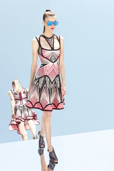 herve leger36 400x600 Herve Leger by Max Azrias Resort 2013 Collection is Comic Book Inspired