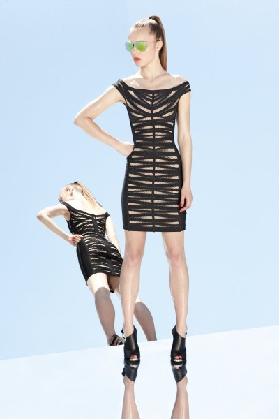 herve leger38 400x600 Herve Leger by Max Azrias Resort 2013 Collection is Comic Book Inspired