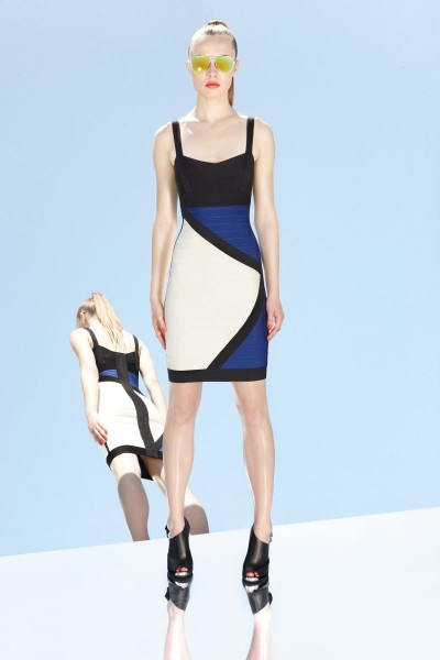 herve leger4 400x600 Herve Leger by Max Azrias Resort 2013 Collection is Comic Book Inspired