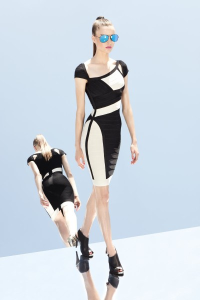 herve leger6 400x600 Herve Leger by Max Azrias Resort 2013 Collection is Comic Book Inspired