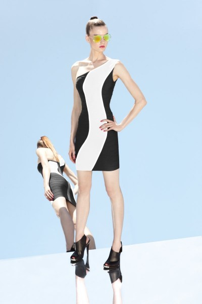 herve leger7 400x600 Herve Leger by Max Azrias Resort 2013 Collection is Comic Book Inspired