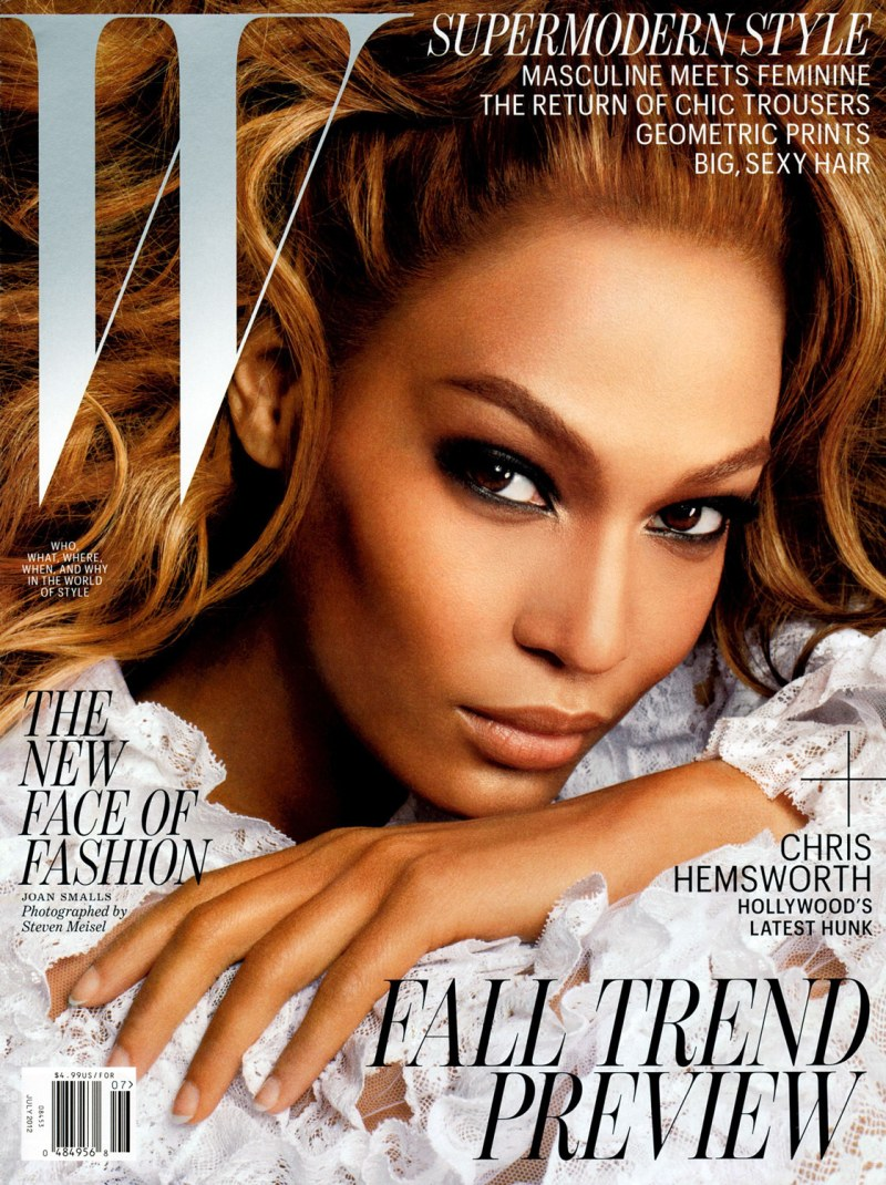 Joan Smalls Strikes it Big on the July 2012 Cover of W Magazine by Steven Meisel