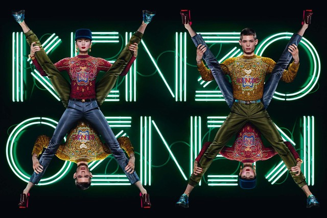 Xiao Wen Shines in Kenzo's Fall 2012 Campaign by Jean Paul Goude