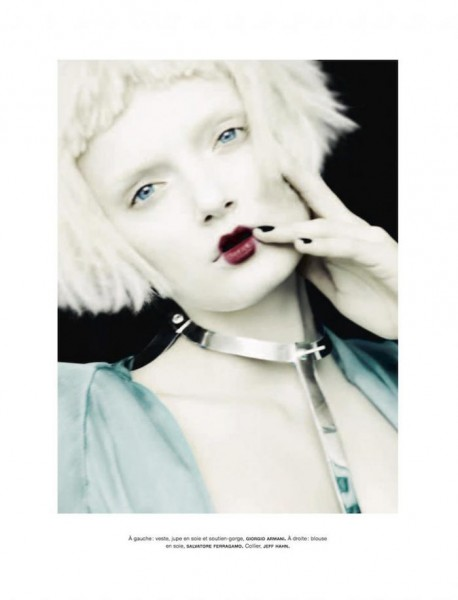Lily Donaldson is A Pale Beauty for Ben Hassett's Numéro #134 Shoot