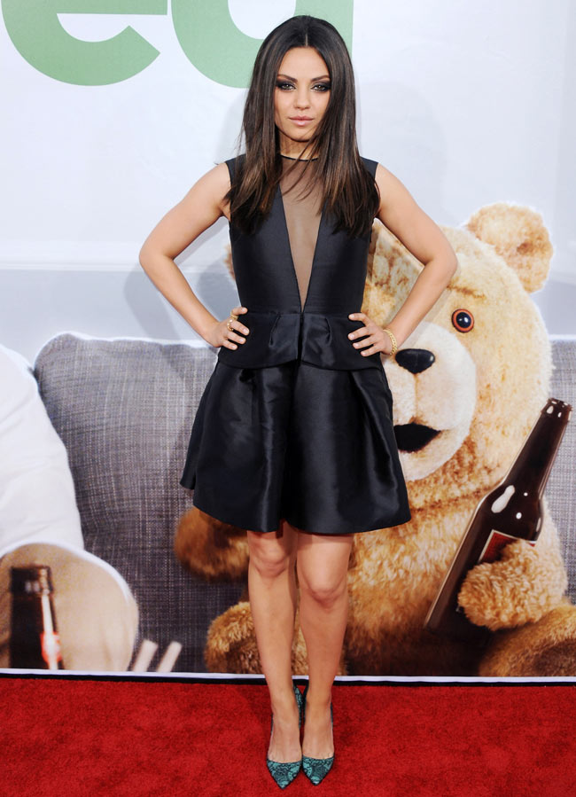 Mila Kunis Was Divine in Dior at the 'Ted' Premiere