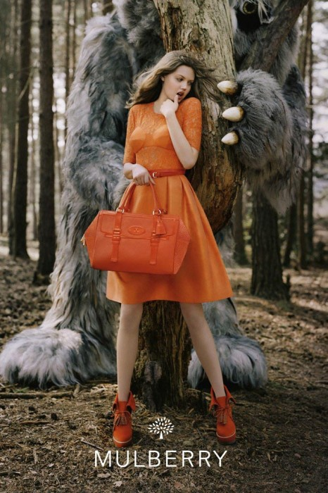 Lindsey Wixson Gets Enchanted for Mulberry's Fall 2012 Campaign by Tim Walker