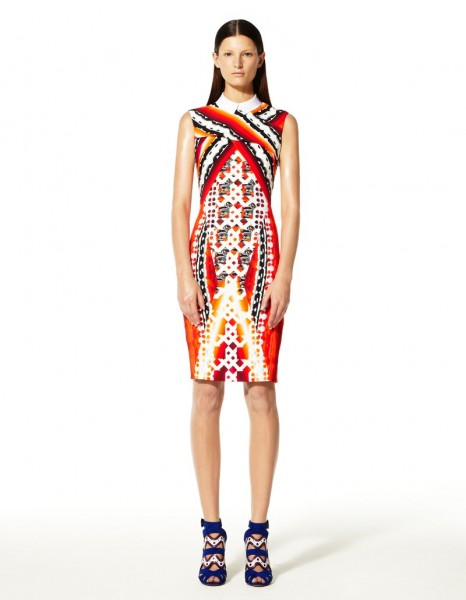 peter pilotto1 466x600 Peter Pilottos Resort 2013 Collection Offers Kaleidoscopic Prints