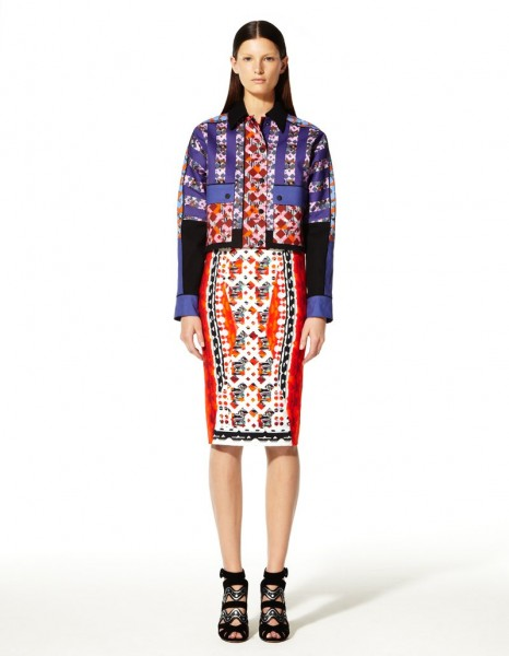 peter pilotto2 466x600 Peter Pilottos Resort 2013 Collection Offers Kaleidoscopic Prints