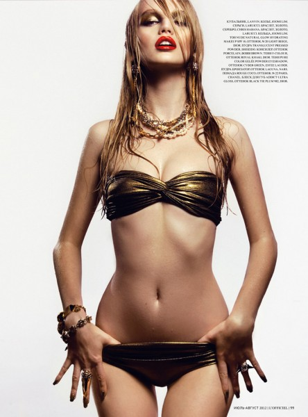 Diana Farkhullina Goes High Gloss for Kevin Sinclair's L'Officiel Ukraine July Shoot