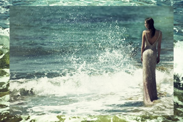 Magdalena Glonek Soaks Up Ocean Waves in Elle Greece July 2012 by Dimitris Skoulos