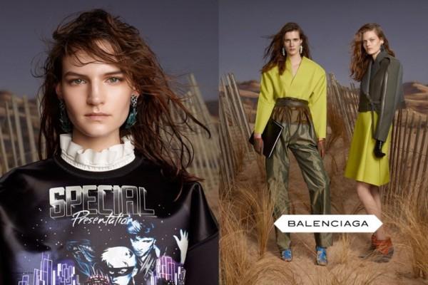 Julier Bugge, Juliet Ingleby & Sophie Hirschfelder Star in Balenciaga's Fall 2012 Campaign by Steven Meisel