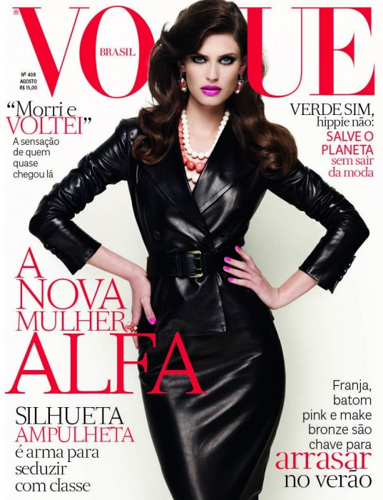 Bianca Balti is Tough in Leather for Vogue Brazil's August 2012 Cover