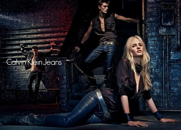 Lara Stone Is Bondage Sexy in Calvin Klein Jeans' Fall 2012 Campaign by Steven Klein