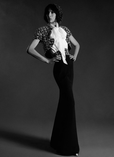 Jamie Bochert Stars in Chanel's Haute Couture Fall 2012 Lookbook by Karl Lagerfeld
