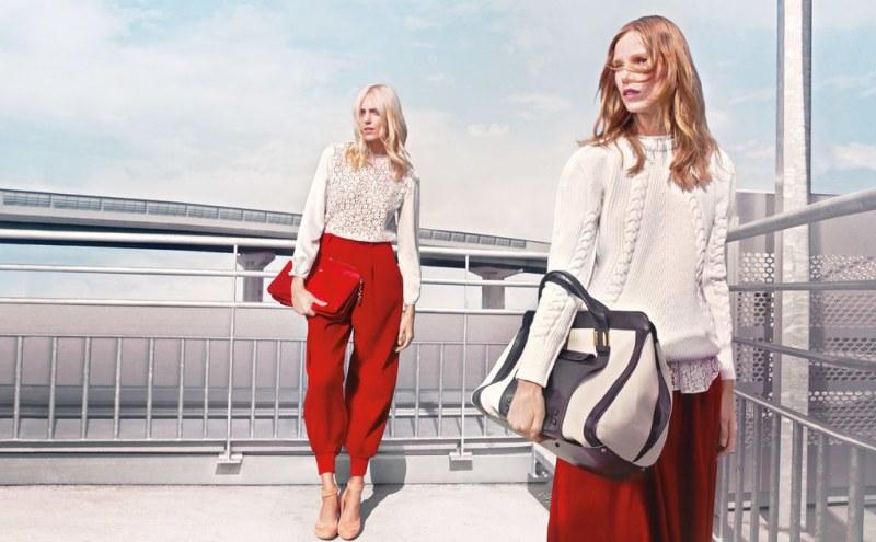 Anja Rubik & Suvi Koponen Front Chloe's Fall 2012 Campaign