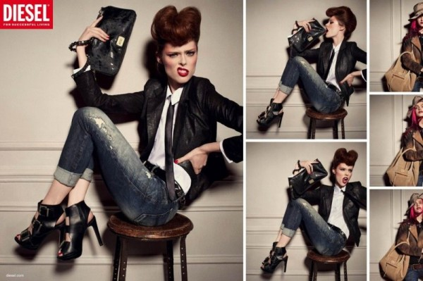 Coco Rocha, Mirte Maas & Hanne Gaby Odiele Pose for Diesel's Fall 2012 Campaign by Steven Meisel