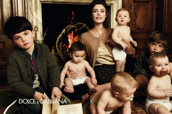 Bianca Balti Gets Motherly for the Dolce & Gabbana Baby Fall 2012 Campaign by Giampaolo Sgura