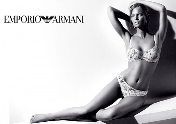 Marloes Horst Strips for Emporio Armani Underwear's Fall 2012 Campaign by Giampaolo Sgura
