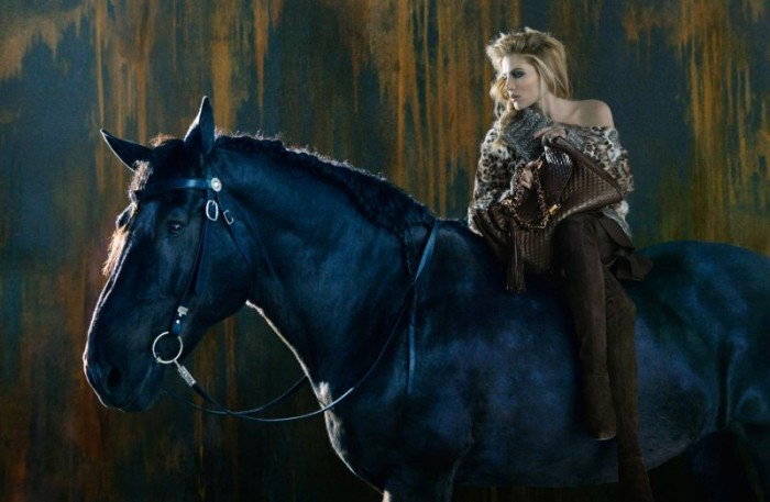 Dree Hemingway Gets Equestrian for Ermanno Scervino's Fall 2012 Campaign by Francesco Carrozzini
