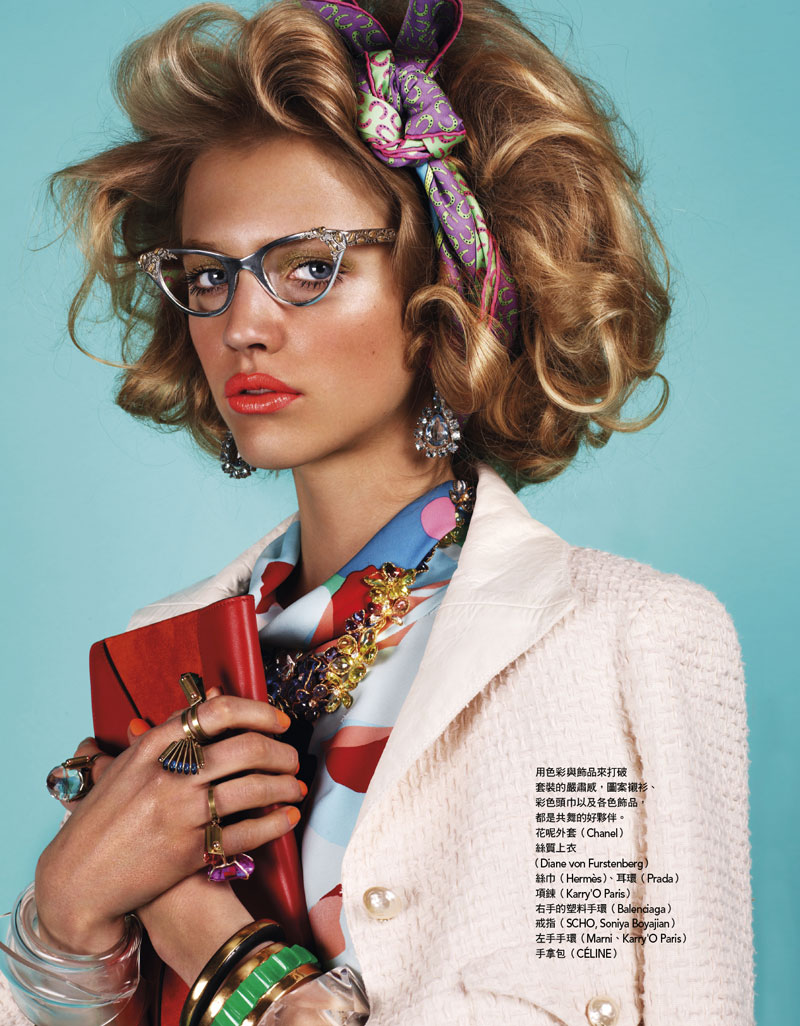 Hanna Wahmer Pops in Retro Chic Style for Naomi Yang's Vogue Taiwan July 2012 Shoot