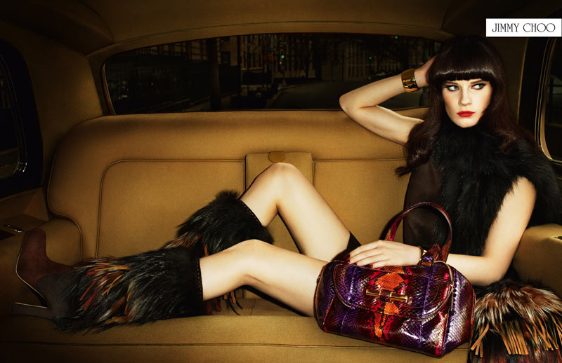Querelle Jansen Channels the 60's for Jimmy Choo's Fall 2012 Campaign by Terry Richardson
