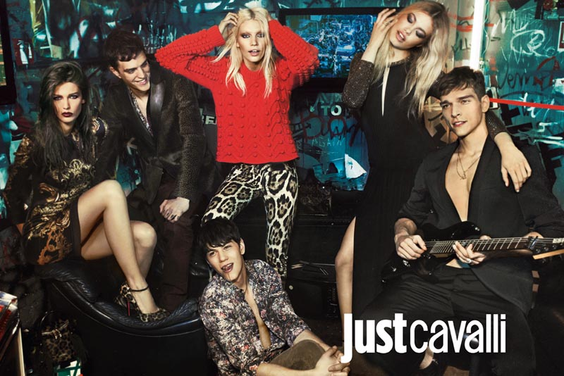 Kendra Spears, Hailey Clauson & Aline Weber Rock Out for Just Cavalli's Fall 2012 Campaign by Giampaolo Sgura