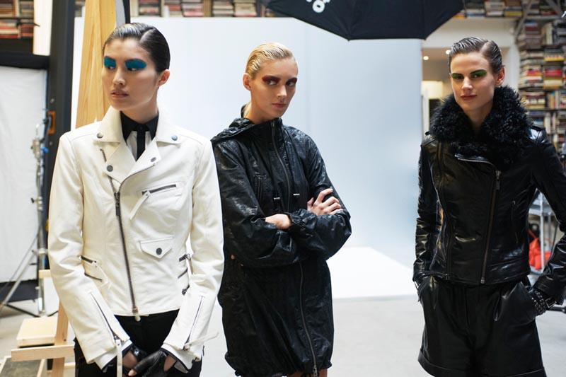 Anja Rubik, Saskia de Brauw & Sui He Behind the Scenes at Karl's Upcoming Fall 2012 Campaign