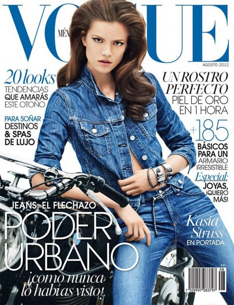 Kasia Struss Dons Rag & Bone Denim for Vogue Mexico's August 2012 Cover