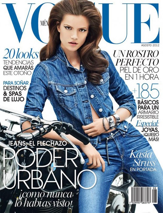 Kasia Struss Dons Rag & Bone Denim for Vogue Mexico's August 2012 Cover