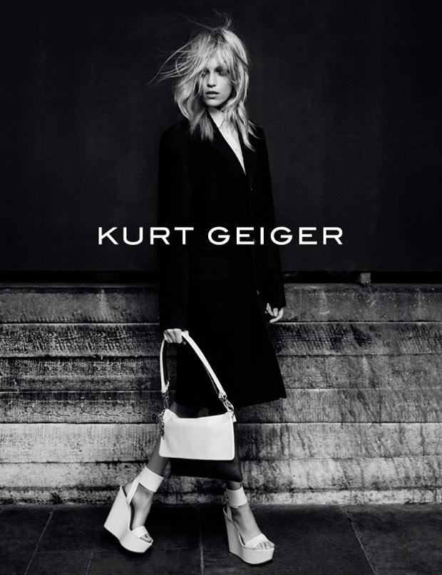 Anja Rubik Fronts Kurt Geiger's Fall 2012 Campaign by Erik Torstensson