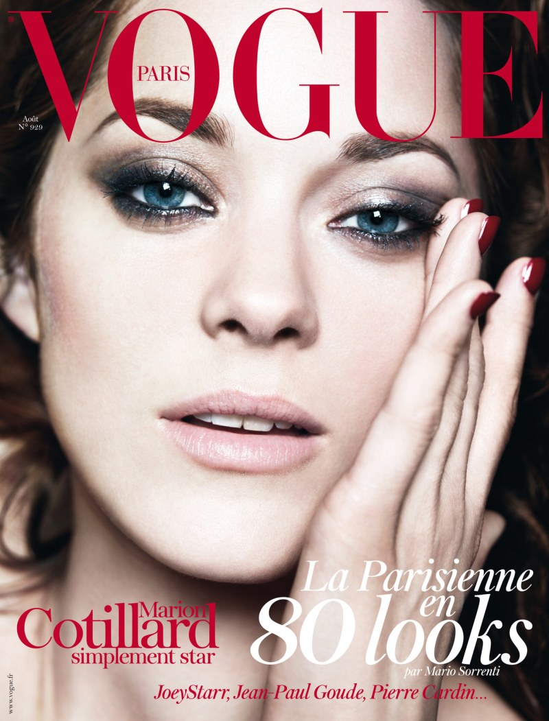 Marion Cotillard Stuns on the August 2012 Cover of Vogue Paris