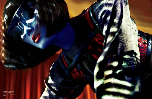 Miao Bin Si Embraces Dark Glamour for Txema Yeste's Numéro China Shoot