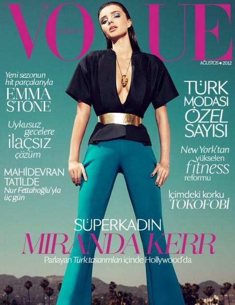 Miranda Kerr Graces the August 2012 Cover of Vogue Turkey