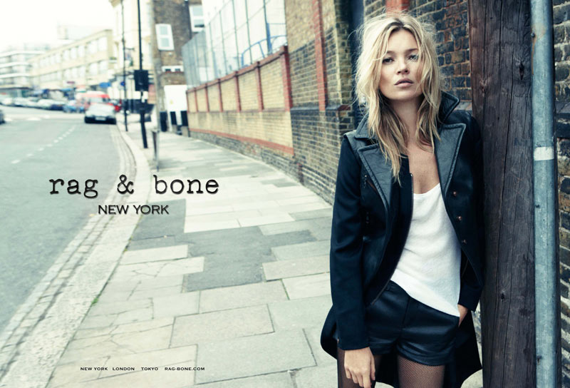 Kate Moss Hits the Streets for Rag & Bone's Fall 2012 Campaign by Craig McDean