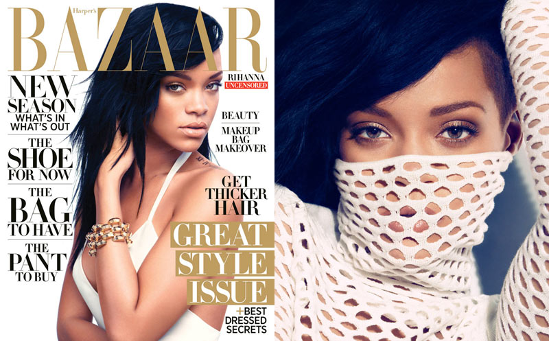 Rihanna Covers Harper's Bazaar US August 2012 by Camilla Akrans