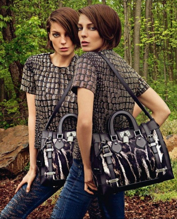 Daria Werbowy Is Seeing Double for Roberto Cavalli's Fall 2012 Campaign by Inez & Vinoodh