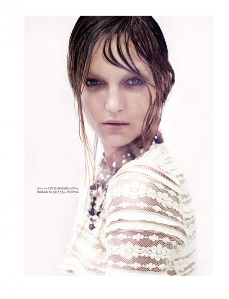 Honer Akrawi Captures Theres Alexandersson in Darkly Romantic Looks for Eurowoman