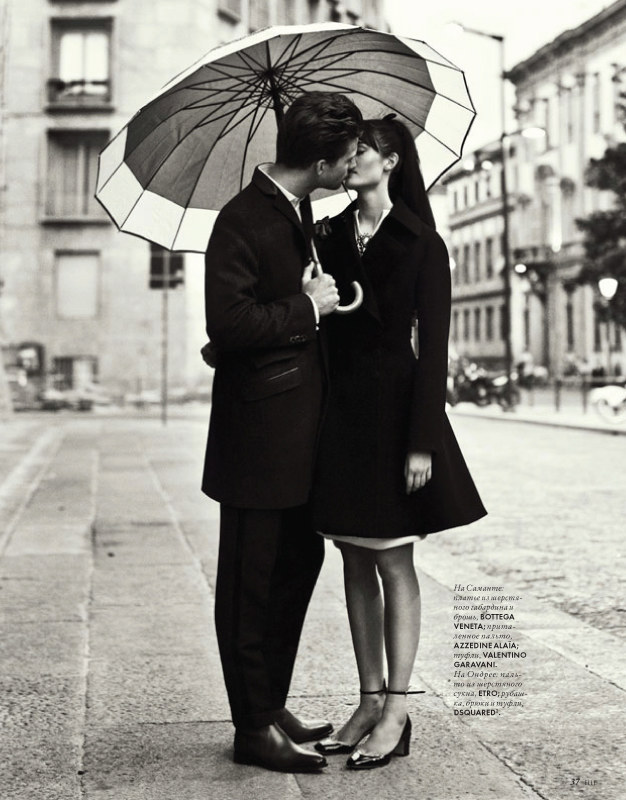 Nikolay Biryukov Photographs a Love Story for Elle Ukraine September 2012