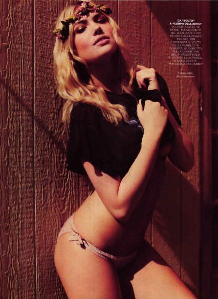 Kate Upton Covers GQ Italia August 2012 in Americana Style