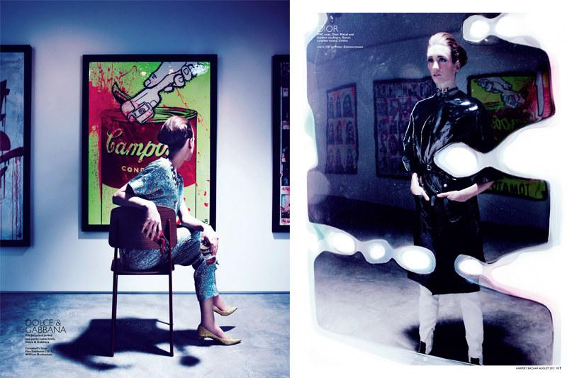 Gan Lenses Pop Art Fashion for Harper's Bazaar Singapore August 2012 Cover Story