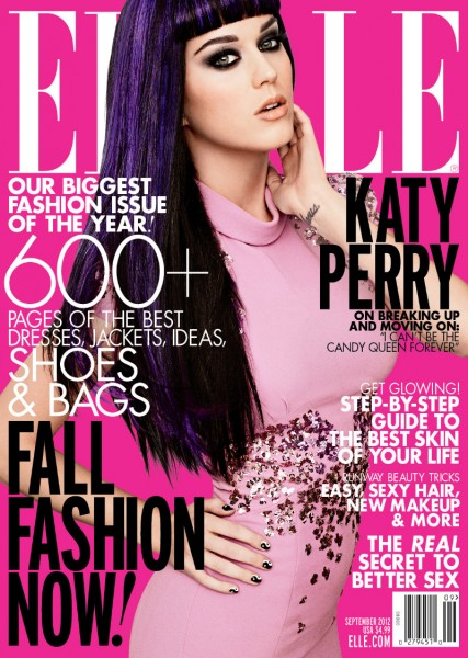 Katy Perry Covers Elle US' September 2012 Issue